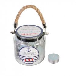 Grossiste bougie chauffe-plat x 18 avec pot avec anse blanche