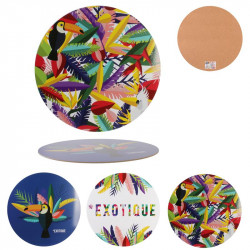 Exotic round placemat