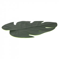 Artificial palm leave placemat
