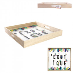 Exotic glass serving tray -...