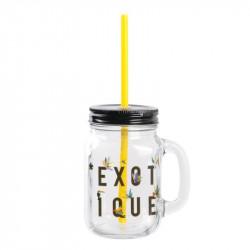 Grossiste et fournisseur. Mason jar exotique jaune de 45 cl.