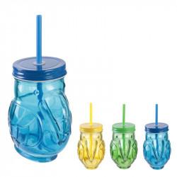 Exotic toucan Mason jar