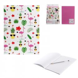 Flamingo style notebook