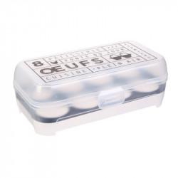 Grossiste. Boîte à œufs fantaisie x 8 gris