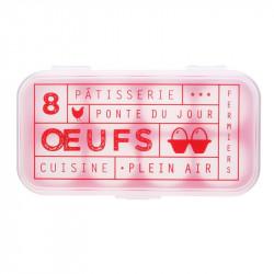 Grossiste. Boîte à œufs fantaisie x 8 rouge