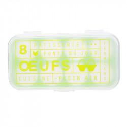 Grossiste. Boîte à œufs fantaisie x 8 vert