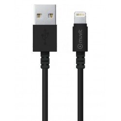 Grossiste. Câble USB/Lightning de 2m Muvit Life - Noir