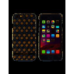 Grossiste. Coque à motif hexagonal + pochette dorée pour iPhone 6/6S So Seven