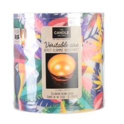 Grossiste. Bougie à LED style exotique multicolore spécial toucan - 15 x 15 cm