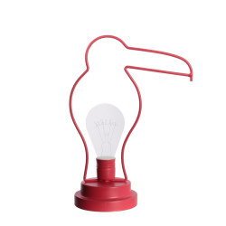 Grossiste. Décoration lumineuse à LED spécial toucan rouge en acrylique au design exotique