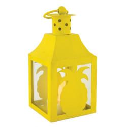 Grossiste. Lanterne à LED en métal au design exotique jaune