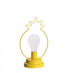 Grossiste. Décoration lumineuse à LED spécial ananas jaune en acrylique au design exotique