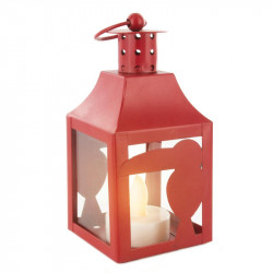 Grossiste. Lanterne à LED en métal au design exotique rouge