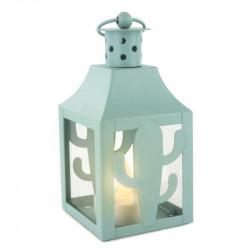 Grossiste. Lanterne à LED en métal au design exotique bleue