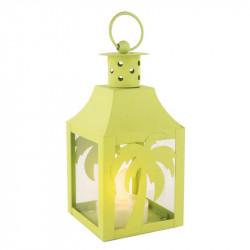 Grossiste. Lanterne à LED en métal au design exotique verte