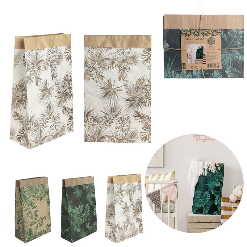 Grossiste sac en papier Natural Life - 45x13x28 cm