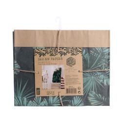 Grossiste sac en papier Natural Life - 45x13x28 cm vert