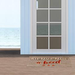 "Grossiste paillasson "" Bienvenue a bord"" 40x60 cm"