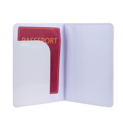 Grossiste. Protège-passeport au style exotique blanc