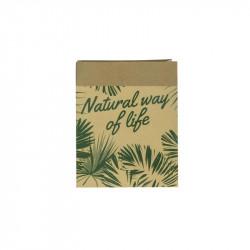 Grossiste sac en papier Natural Life - 26x21x10cm beige