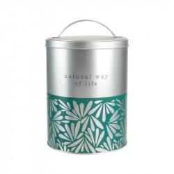 Grossiste Boîte en métal Natural way of life - feuilles argentées