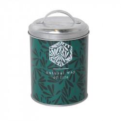 Grossiste Boîte en métal Natural way of life - feuilles vertes