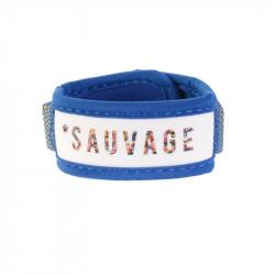Grossiste Bracelet exotique anti-moustiques avec recharge citronnelle bleu