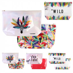 PVC Exotic travel pouch en PVC