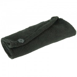 Grossiste et fournisseur. Serviette microfibre cheveux noire