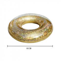 Grossiste Bouée gonflable à paillettes dorées