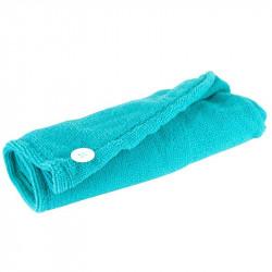 Grossiste et fournisseur. Serviette microfibre cheveux bleue