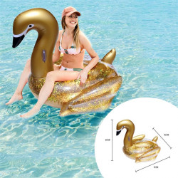 Inflatable gold swan pool...