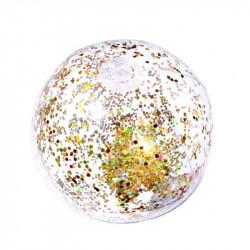 Grossiste. Ballon gonflable à paillettes dorées