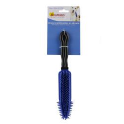 Grossiste Brosse de massage silicone noir et bleu