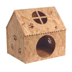 Maison en bois surélevée...