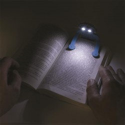 Grossiste et fournisseur. Lampe de lecture bonhomme flexible bleue
