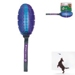 Grossiste Ballon de rugby sonore pour chien - bleu