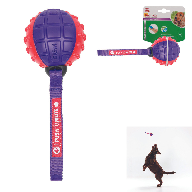 Grossiste Balle sonore pour chien rose