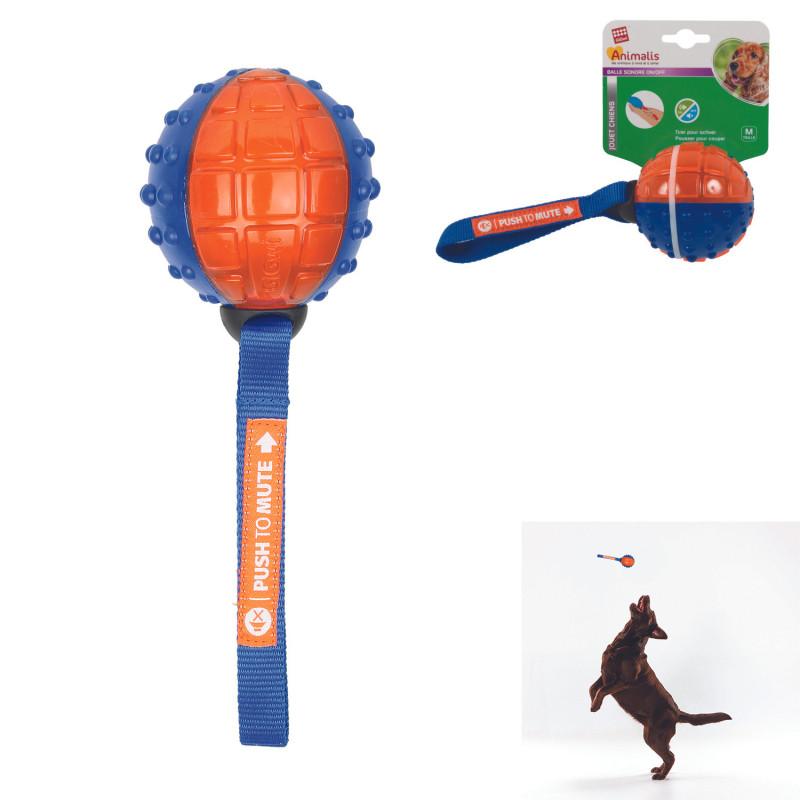 Grossiste Balle sonore pour chien orange