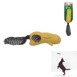 Grossiste Jouet en forme de lapin sonore jaune pour chien