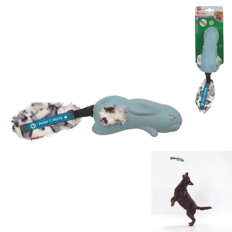 Grossiste Jouet en forme de lapin sonore bleu pour chien