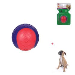 Grossiste Balle sonore rouge et violette pour chien - taille S
