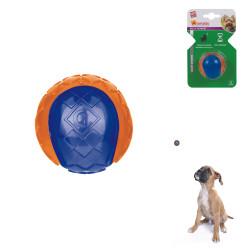 Grossiste balle sonore orange et bleue pour chien - taille S