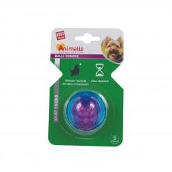 Grossiste Balle sonore bleue et violette pour chien - taille S