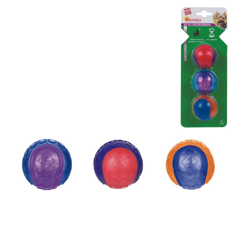 Grossiste Set de 3 balles sonores - taille S