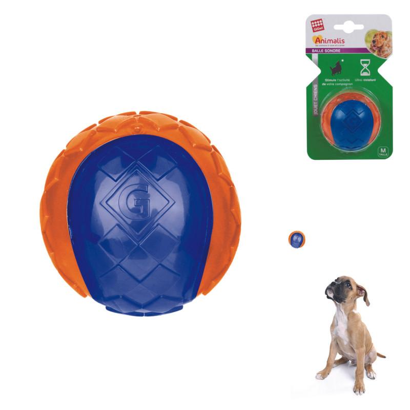 Grossiste Balle sonore orange pour chien - taille M