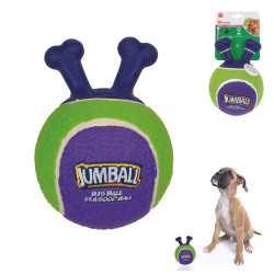 Grossiste Ballon vert et violet à poignée pour chien