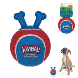 Grossiste Ballon rouge et bleu à poignée pour chien