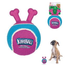Grossiste Ballon violet et bleu à poignée pour chien