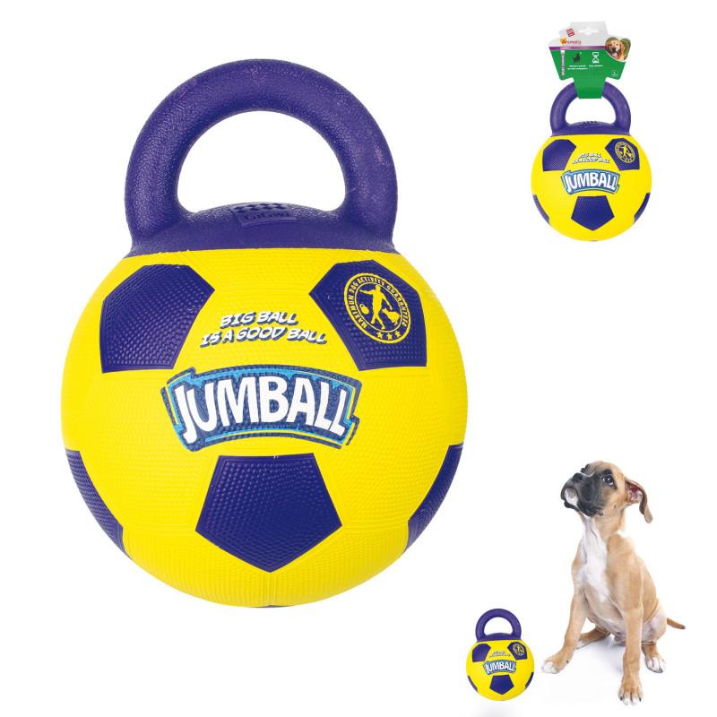 Grossiste Ballon de foot jaune et violet avec poignée